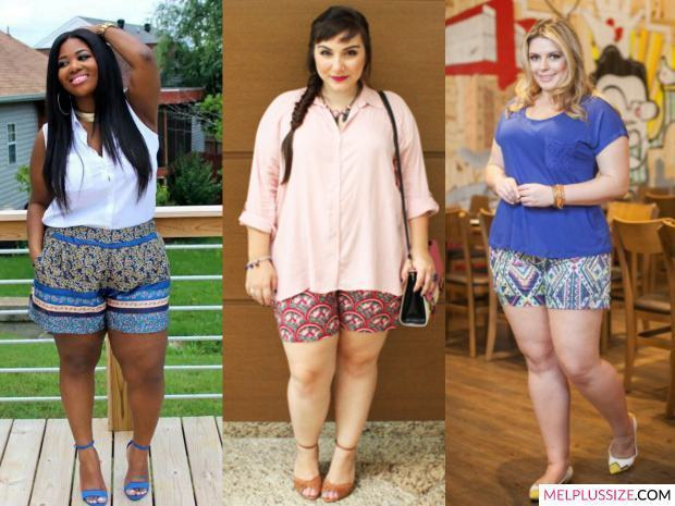 short-estampado-plus-size