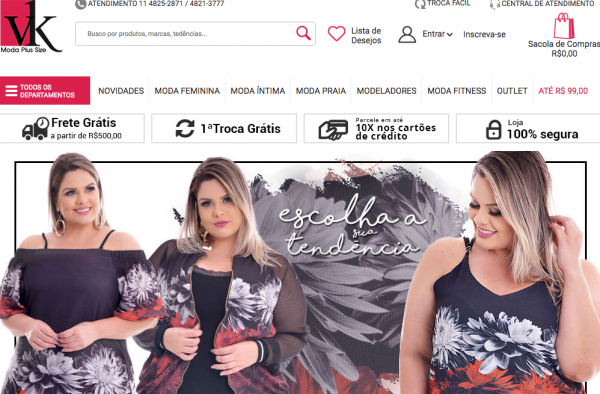 loja virtual plus size vk