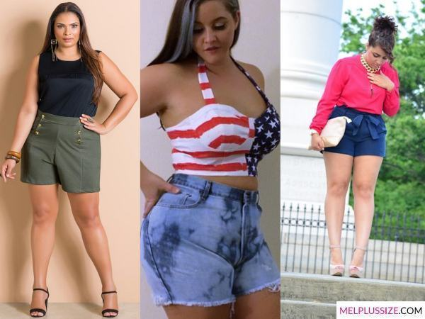 short-cintura-alta-look-plus-size
