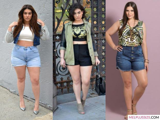short-cintura-alta-plus-size