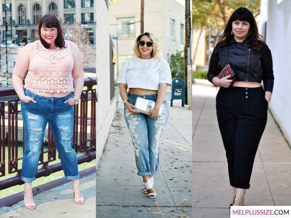 cropped-com-calça-jeans-plus-size