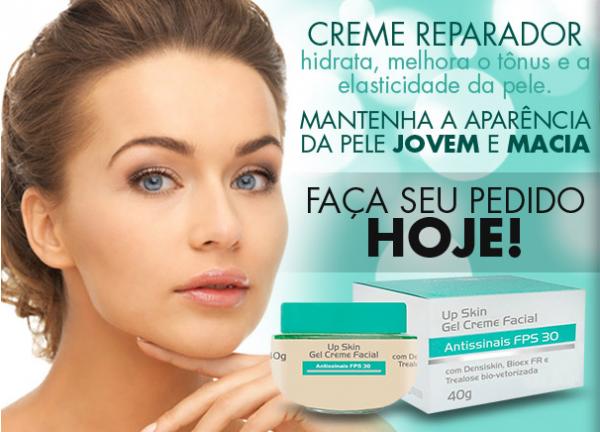 gel creme facial anti idade up skin