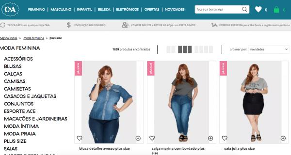 loja para comprar roupa plus size