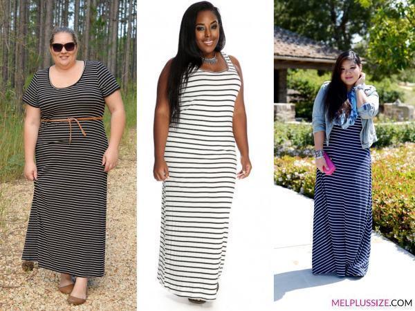 Como Usar Vestido Listrado Para Gordinhas Mel Plus Size