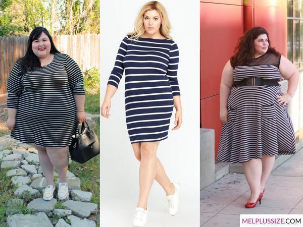 vestido-listrado-para-gorda