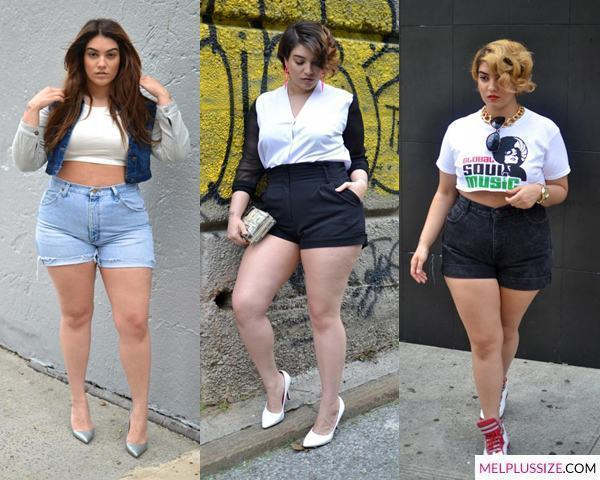 short-cintura-alta-plus-size