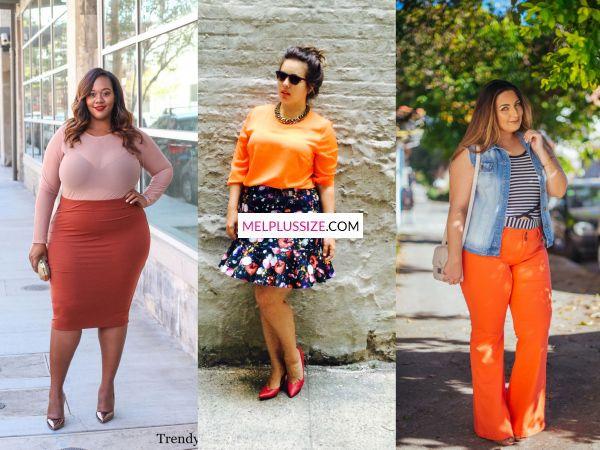 c290d3eb40c Eu adoro usar laranja e também possui significado. A mulher plus size que  vestir laranja quer atrair sucesso profissional e pessoal.