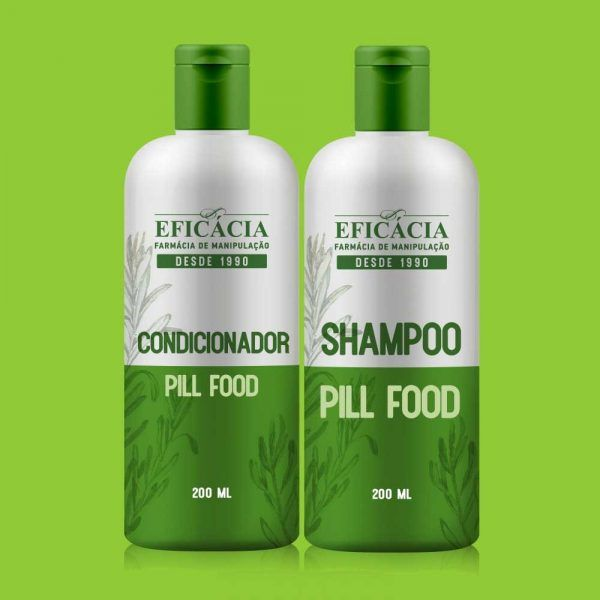 shampoo e condicionador pill food
